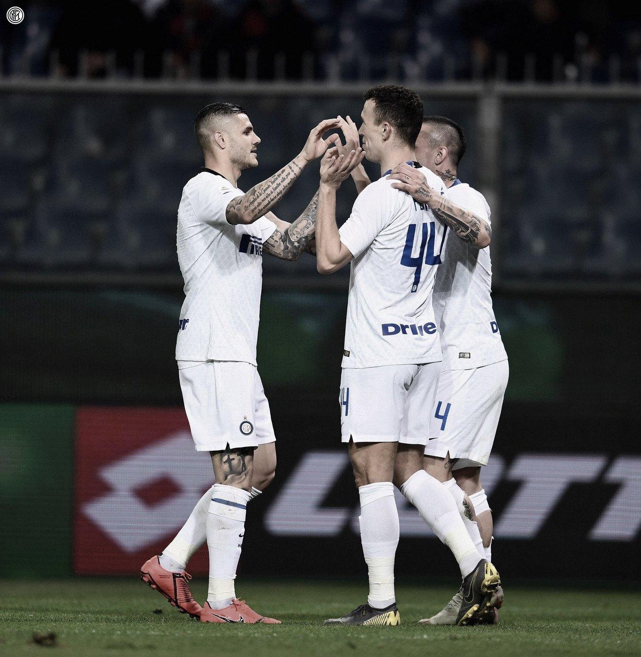 Gagliardini marca dois eInter de Milãogoleia Genoa pelo Campeonato Italiano