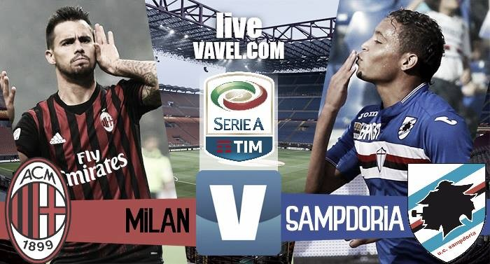 Risultato finale Milan - Sampdoria in Serie A 2016/17 (0-1): Muriel su rigore decide la gara, crisi nera per i rossoneri