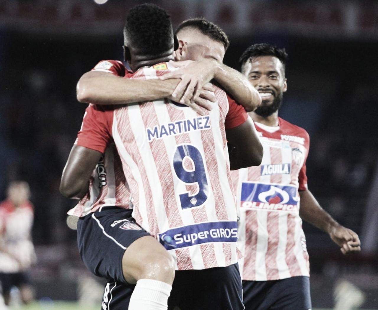 Lluvia de goles y ventaja mínima de Junior en la ida sobre Pereira