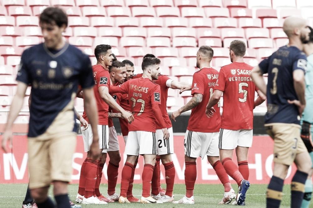 Gols e melhores momentos para Santa Clara 0x5 Benfica pela Primeira Liga