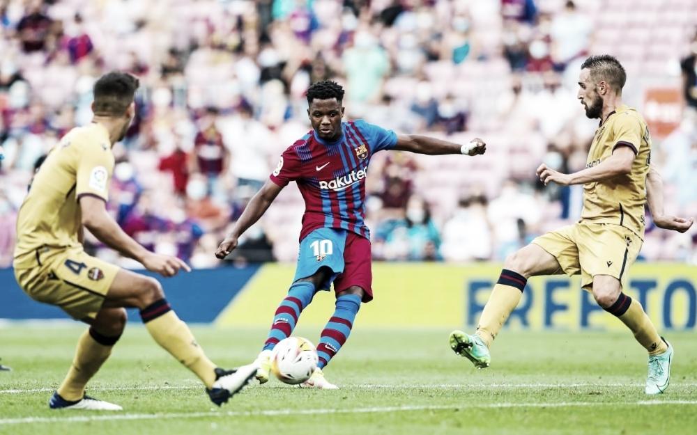No retorno de Ansu Fati, Barcelona bate Levante com facilidade em LaLiga