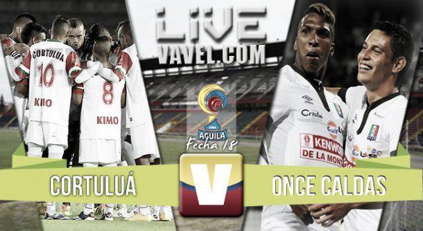 Resultado Cortuluá - Once Caldas en la Liga Águila 2015-II (0-3)