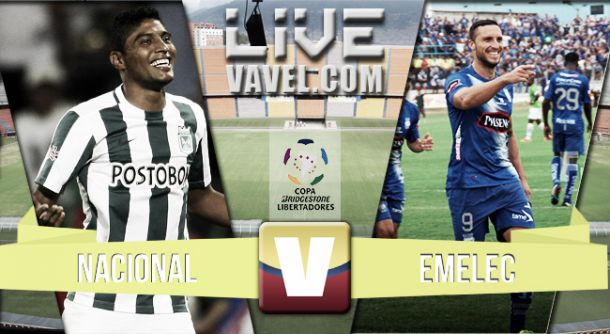 Resultado Nacional vs Emelec en la Copa Libertadores 2015 (1-0)