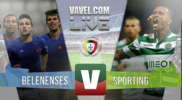 Belenenses x Sporting    na Liga NOS (1-1)