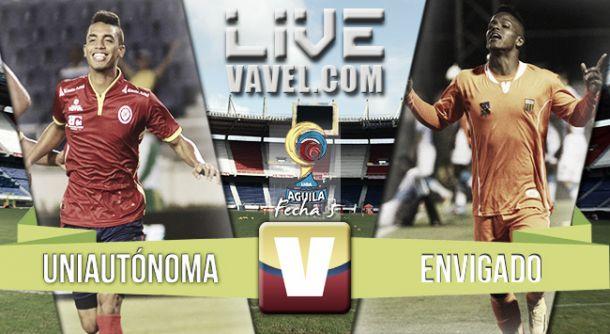 Resultado Uniautónoma - Envigado enLiga Águila II 2015(0-0)