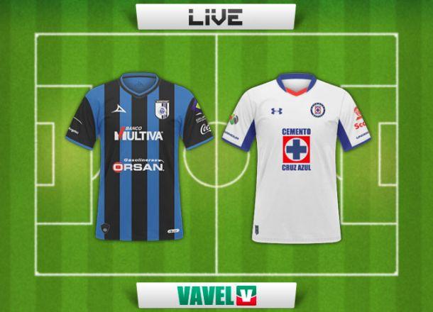 Resultado Querétaro - Cruz Azul en Liga MX 2015 (1-2)