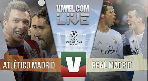Atlético Madrid x Real Madrid   na UEFA Liga dos Campeões (0-0)