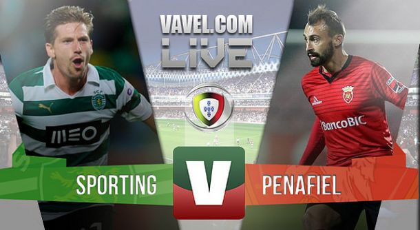 Sporting x Penafiel    na Liga NOS (3-2)