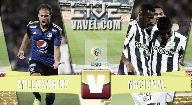 Resultado Millonarios - Nacional en el Clásico 2015 de Liga Águila (0-0)