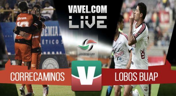 Resultado Correcaminos - Lobos BUAP en ida de cuartos de final del Ascenso MX 2015 (1-2)