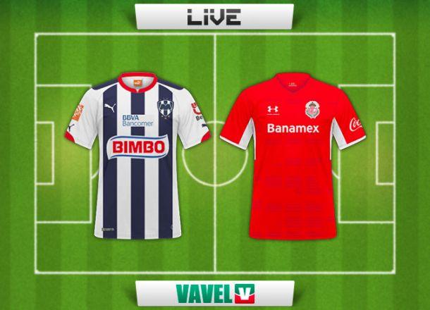 Resultado Rayados de Monterrey - Toluca en Liga MX 2015 (3-2)