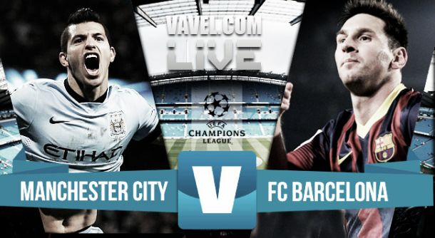 Live Manchester City - Barcellona in risultato partita Champions League (1-2)