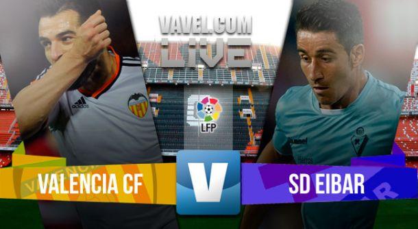 Valencia vs Eibar en vivo y directo online en la Liga BBVA 2015