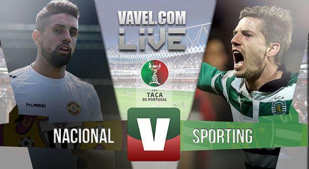 Nacional x Sporting    na Taça de Portugal (2-2)