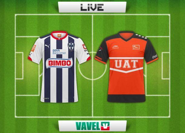 Resultado Rayados Monterrey - Correcaminos en Copa MX 2015 (4-1)