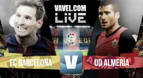 Diretta Barcellona - Almeria in il risultato della partita di Liga Spagnola (4-0)