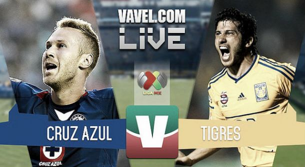 Resultado Cruz Azul - Tigres en la Liga MX 2015 (2-0)