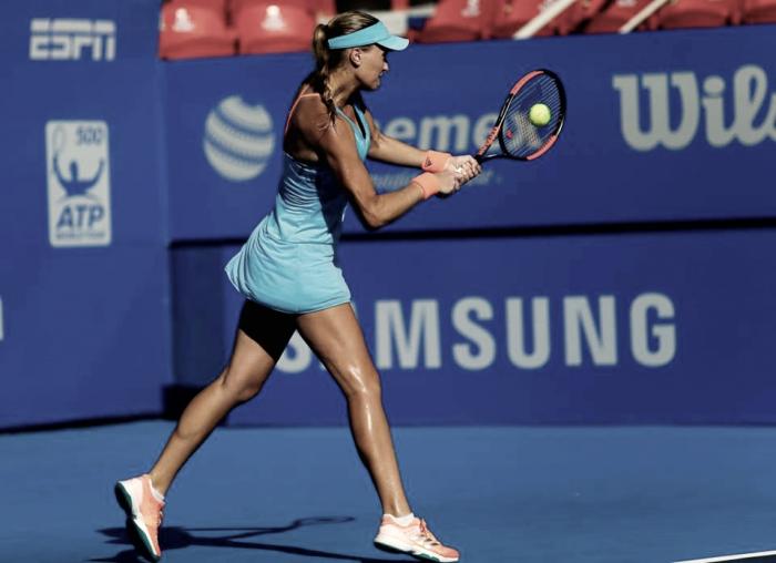 WTA Acapulco: Kristina Mladenovic survives three set battle as Monica Puig defeats Daniela Hantuchova