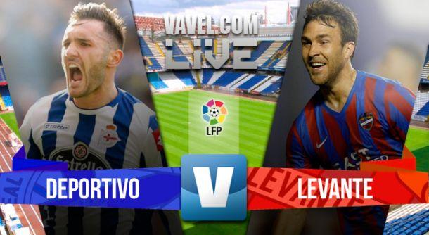 Resultado del Deportivo de La Coruña vs Levante en la Liga BBVA 2015 (2-0)