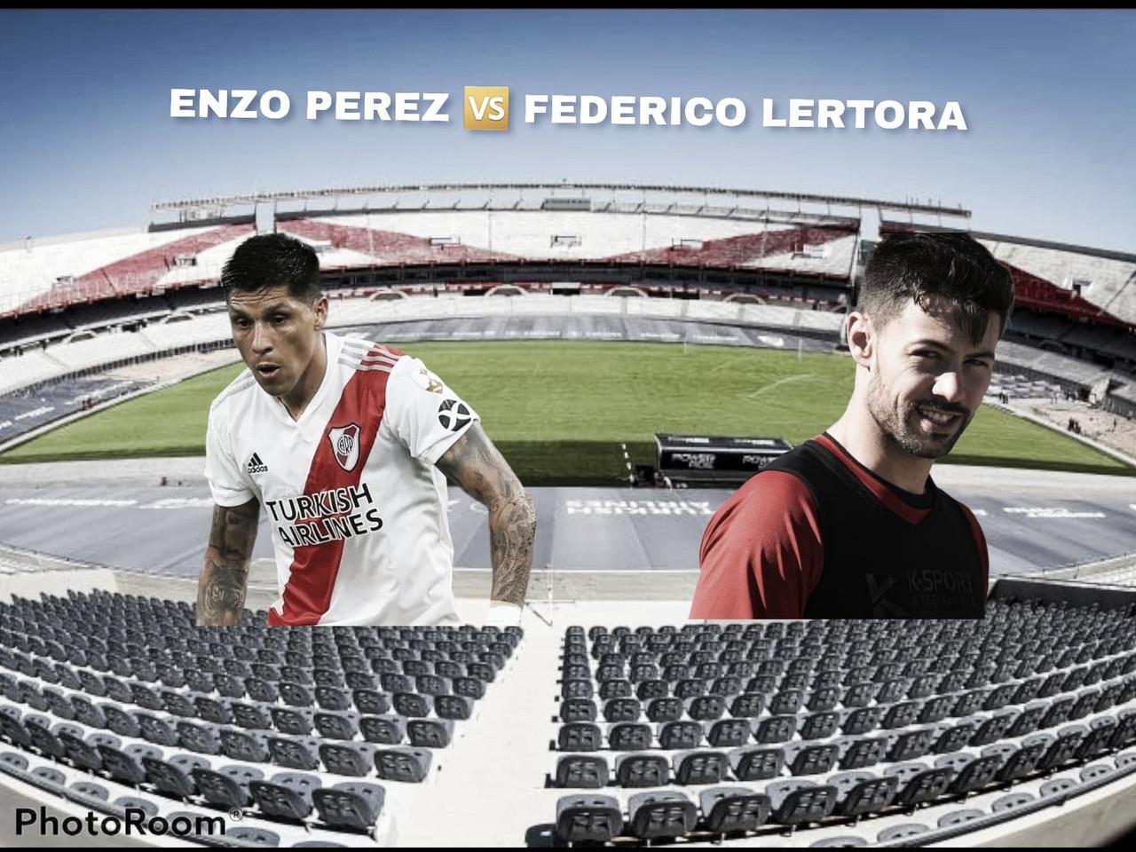 Enzo Pérez vs Federico Lértora: los cerebros en el medio