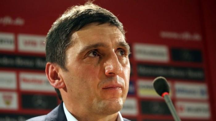 Tayfun Korkut in after Stuttgart's surprise sacking of Hannes Wolf