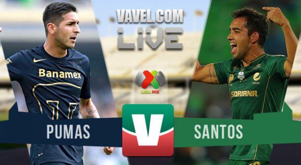 Resultado Pumas - Santos en Liga MX 2015 (1-0)