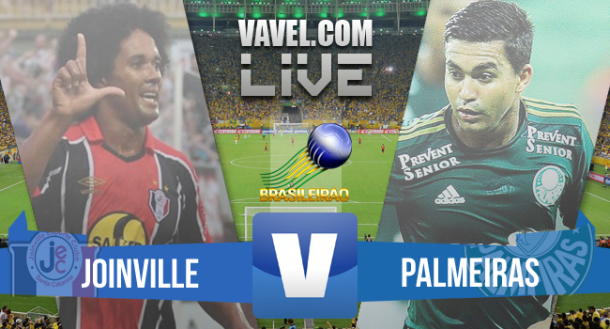 Resultado Joinville x Palmeiras no Brasileirão 2015 (0-0)