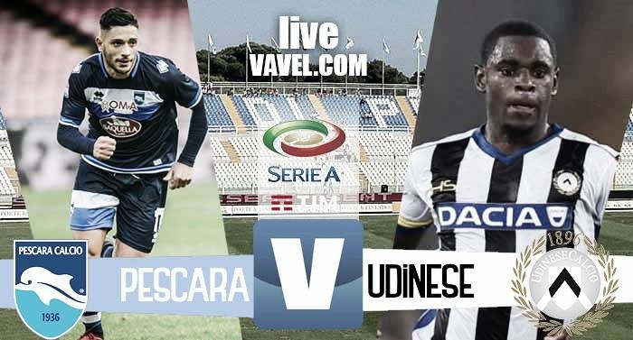 Pescara-Udinese in Serie A 2016/2017 (1-3) Al Pescara non basta Muntari, l'Udinese espugna l'Adriatico con tre reti