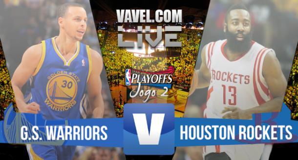 Resultado Golden State Warriors vs Houston Rockets, Jogo 2 final da Conferência Oeste do NBA Playoffs (99-98)