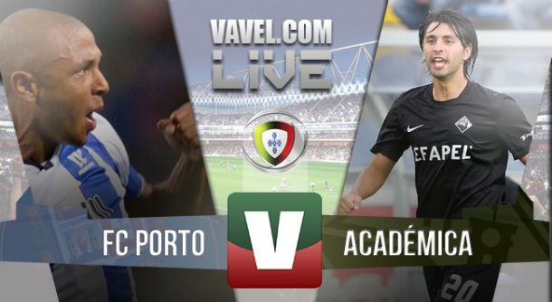 Resultado Portovs Académica en la Liga Portuguesa 2015 (1-0)