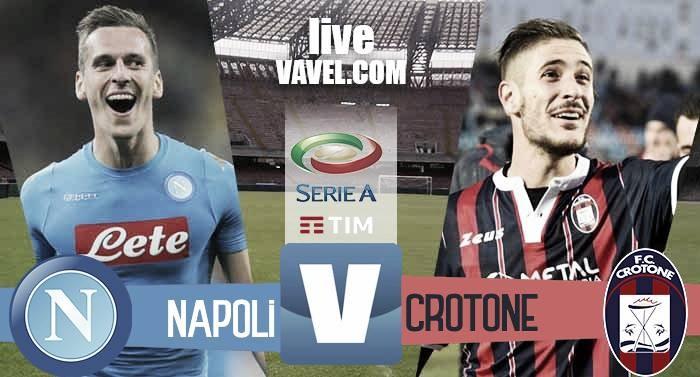 Risultato Napoli 3-0 Crotone in Serie A 2016/17: Decidono Mertens ed una doppietta di Insigne