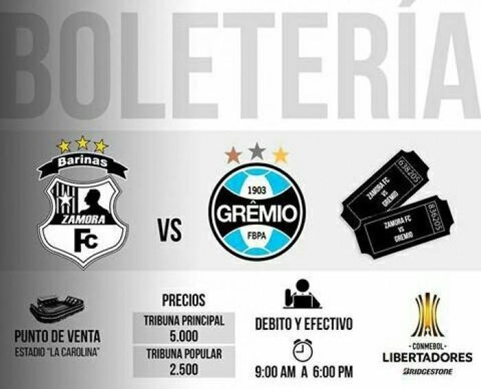 Zamora FC Inició la venta de entradas para el Compromiso de Copa Libertadores de América