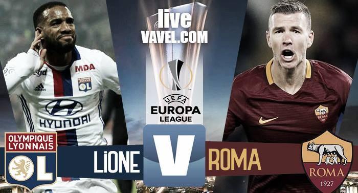 Risultato Lione 4-2 Roma in Europa League 2016/17: Diakhaby, Salah, Fazio, Tolisso, Fekir, Lacazette!