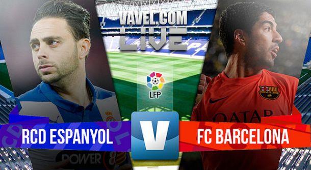 Resultado Espanyol x Barcelona na La Liga 2015 (0 - 2)