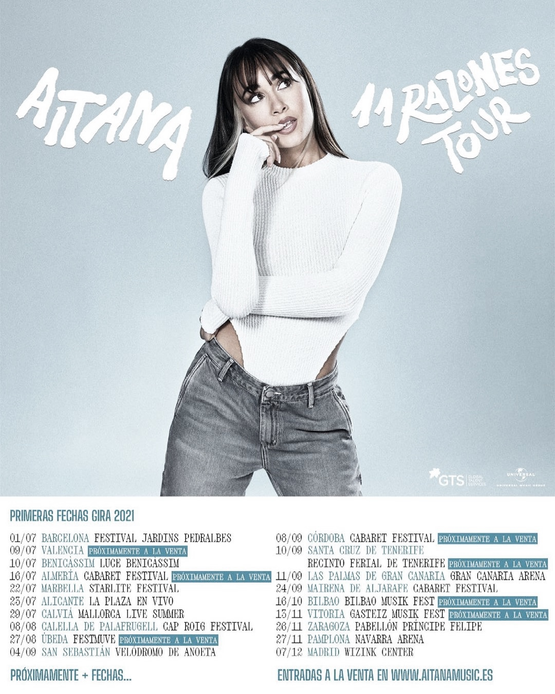 Aitana empieza el 11 Razones Tour en Barcelona