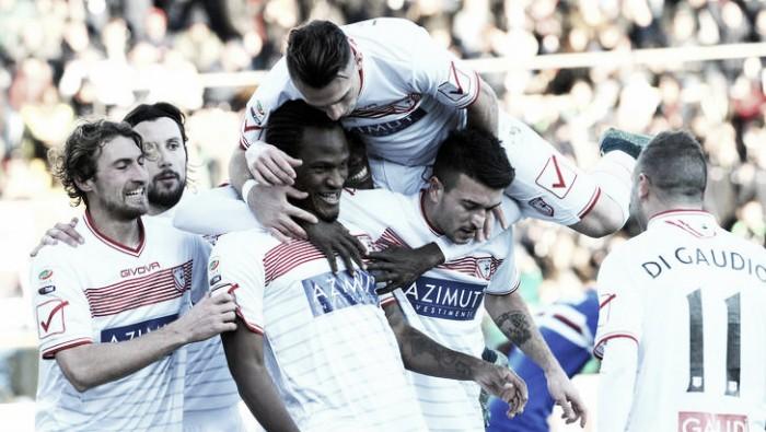 Serie B: beffa Latina, il Carpi vince 0-1 grazie al ritorno al gol di Mbakogu