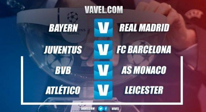 Emparejamientos de los cuartos de final de la UEFA Champions League ...