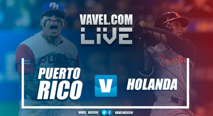 Resultado y videos del Holanda 3-4 Puerto Rico en Clásico Mundial de Beisbol 2017