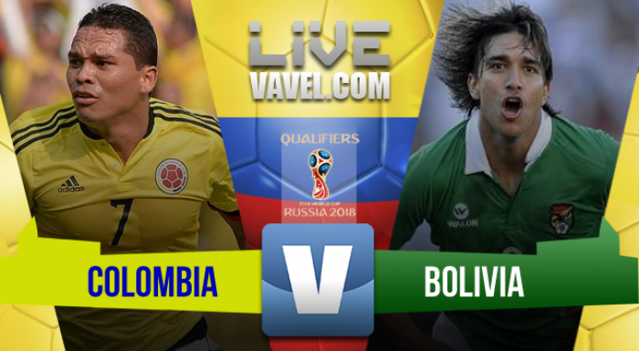 Resultado Colombia vs Bolivia en Eliminatoria Rusia 2018 (1-0)