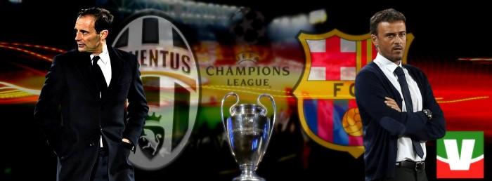 Verso Juve-Barça - Il confronto fra i due timonieri: Allegri e Luis Enrique