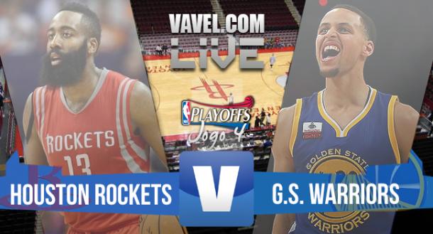 Resultado Houston Rockets x Golden State Warriors Jogo 4 Finais da Conferência Oeste da NBA (128-115)