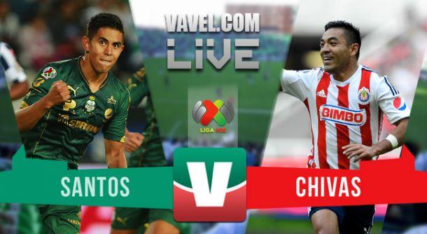 Resultado Santos - Chivas en partido de ida de la Liguilla 2015 (0-0)