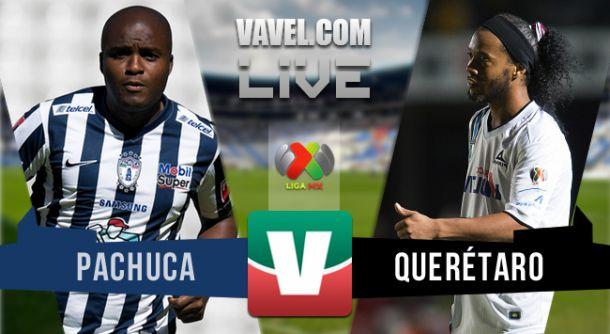 Resultado Pachuca - Querétaro en partido de ida de la Liguilla 2015 (2-0)