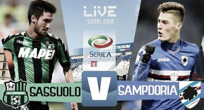 Resultato Sassuolo 2-1 Sampdoria in Serie A 2016/17: Acerbi completa la rimonta