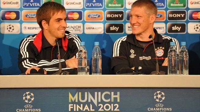 """Schweinsteiger y Lahm: """"Es algo positivo jugar la final en nuestro estadio"""""""