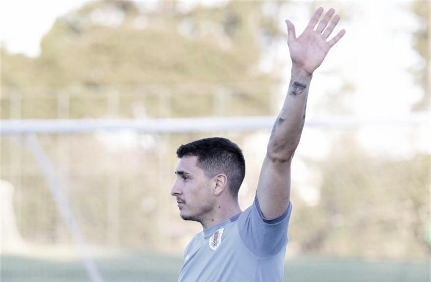"""José Giménez: """"Veo un Uruguay muy comprometido y entusiasmado para pasar de ronda"""""""