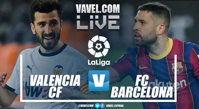 Resumen Valencia vs Barcelona (2-3)