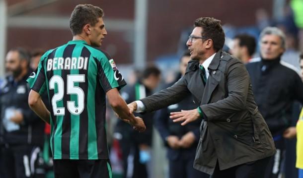 """Sassuolo, Di Francesco: """"Berardi da grande squadra, rimarrà fino a giugno"""""""