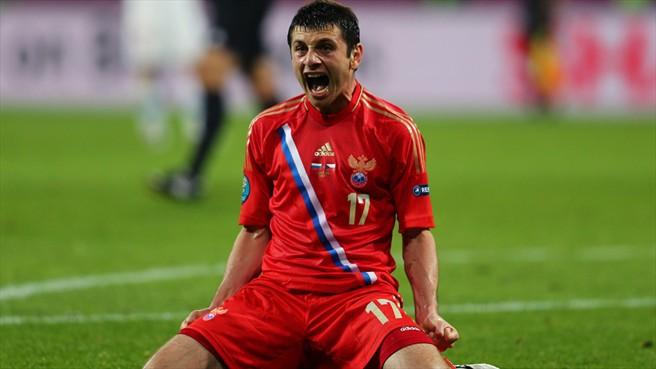 Rusia golea a R.Checa con una gran actuación del joven Dzagoev
