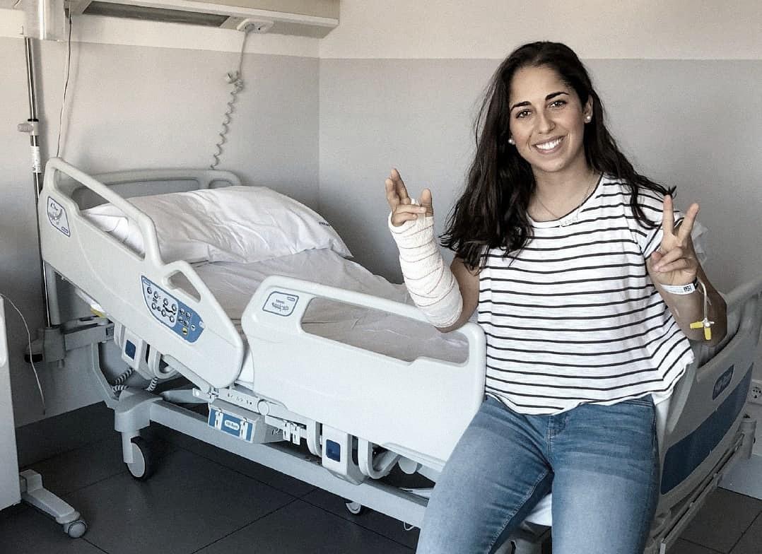 María Herrera operada con éxito de síndrome compartimental